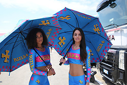 July 8, 2018 - Misano, Italy, Italy - Grid Girls during the Motul FIM Superbike Championship - Italian Round  Sunday race during the World Superbikes - Circuit PIRELLI Riviera di Rimini Round, 6 - 8 July 2018 on Misano, Italy. (Credit Image: © Fabio Averna/NurPhoto via ZUMA Press)