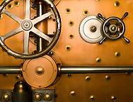 Bank Vault Door, close-up