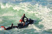 Jet ski, lifeguard, Waimea Bay, North Shore, Oahu, Hawaii