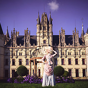 French baroque fashion photos taken in Chateau Challain, France by photographer Janelle Pietrzak aka Explored Exposure.
