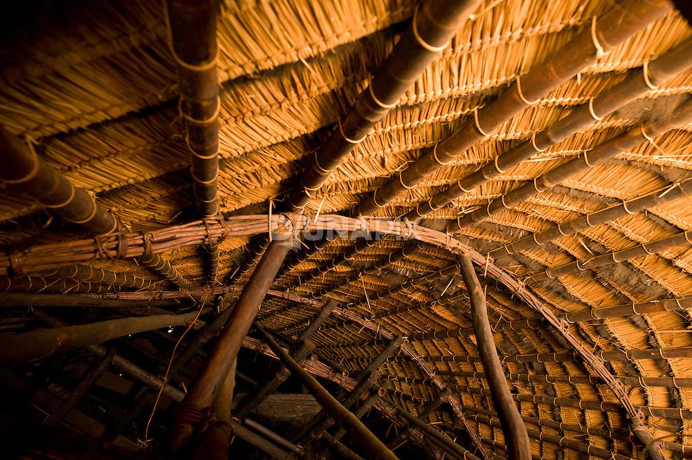 Roof detail, Wae Rebo, Flores