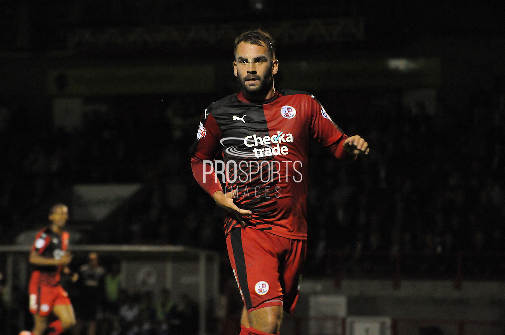 Simon Walton in action during the Sky Bet League 2 match between Crawley Town and Portsmouth at the Checkatrade.com Stadium, Crawley, England on 18 August 2015. Photo by Michael Hulf.