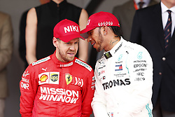 May 26, 2019 - Monte Carlo, Monaco - Motorsports: FIA Formula One World Championship 2019, Grand Prix of Monaco, ..#5 Sebastian Vettel (GER, Scuderia Ferrari Mission Winnow), #44 Lewis Hamilton (GBR, Mercedes AMG Petronas Motorsport) (Credit Image: © Hoch Zwei via ZUMA Wire)