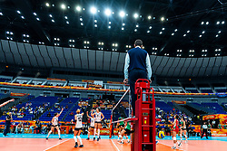 03-10-2018 JPN: World Championship Volleyball Women day 6, Yokohama<br /> Netherlands - Mexico 3-0 / Team NL celebrate third set win