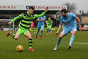 Forest Green Rovers Alex Bray(31) crosses the ball during the EFL Sky Bet League 2 match between Forest Green Rovers and Coventry City at the New Lawn, Forest Green, United Kingdom on 3 February 2018. Picture by Shane Healey.
