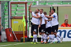 """Foto /Filippo Rubin<br /> 28/10/2017 Cesena (Italia)<br /> Sport Calcio<br /> Cesena vs Novara - Campionato di calcio Serie B ConTe.it 2017/2018 - Stadio """"Dino Manuzzi""""<br /> Nella foto: GOAL CESENA SCOGNAMIGLIO GENNARO<br /> Photo /Filippo Rubin<br /> October 28, 2017 Cesena (Italy)<br /> Sport Soccer<br /> Cesena vs Novara - Italian Football Championship League B ConTe.it 2017/2018 - """"Dino Manuzzi"""" Stadium <br /> In the pic: GOAL CESENA SCOGNAMIGLIO GENNARO"""