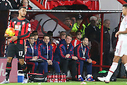 Manchester United Manager Louis van Gaal during  the Barclays Premier League match between Bournemouth and Manchester United at the Goldsands Stadium, Bournemouth, England on 12 December 2015. Photo by Phil Duncan.