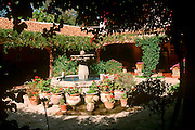 MEXICO, COLONIAL CITIES, GUANAJUATO San Miguel de Allende, colonial fountain and courtyard in historic Villa Santa Monica