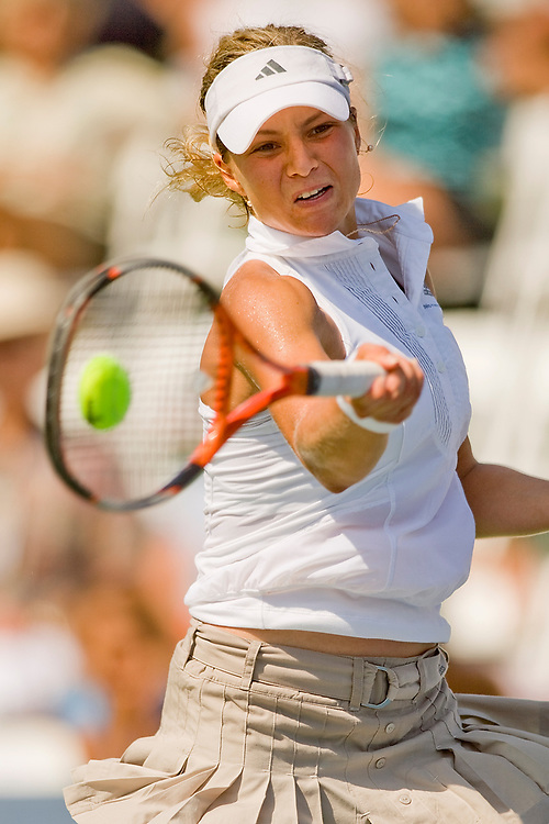 La Costa, San Diego, CA - August 2nd, 2007 - Maria Kirilenko returns a ball against her opponent in the Acura Classic tennis tournament in La Costa near San Diego, CA. - Photo by Wally Nell/ZUMA Press