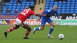 Joe Ward of Peterborough United takes on Dimitri Cavare of Barnsley - Mandatory by-line: Joe Dent/JMP - 06/10/2018 - FOOTBALL - ABAX Stadium - Peterborough, England - Peterborough United v Barnsley - Sky Bet League One