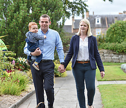 Pictured: Douglas Ross with his wife Krystal and son Alistair.<br /> <br /> MP for Moray Douglas Ross is the new leader of the Scottish Conservatives. He took the role less than a week after the resignation of Jackson Carlaw. <br /> <br /> © Dave Johnston / EEm