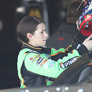 Stock car driver Danica Patrick during warm ups for the 2010 Daytona 500 race at the Daytona International Speedway on February 10, 2010 in Daytona Beach, Florida. (AP Photo/Alex Menendez)