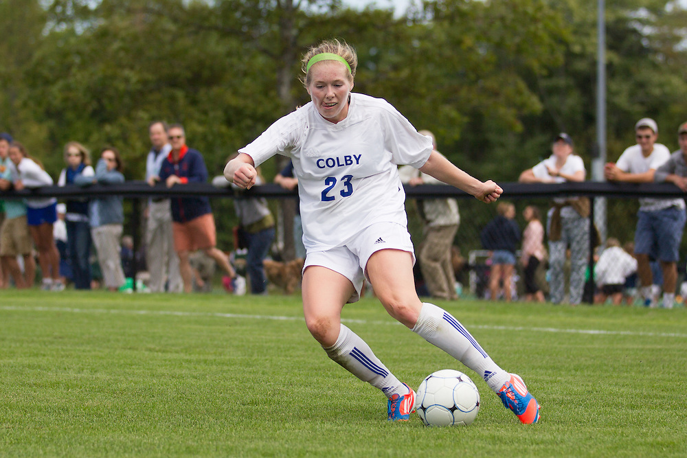 Alex Yorke, of Colby College, in an NCAA Division III college soccer game against Williams College at Colby College, Saturday Sept. 7, 2012 in Waterville, ME. (Dustin Satloff/Colby College Athletics)