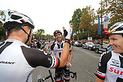 Tom Dumoulin (NED - Team Sunweb) is congratulated by Nikias Arndt after arrival during the 105th Tour de France 2018, Stage 21, Houilles - Paris Champs-Elysees (115 km) on July 29th, 2018 - Photo George Deswijzen / Pro Shots / ProSportsImages / DPPI