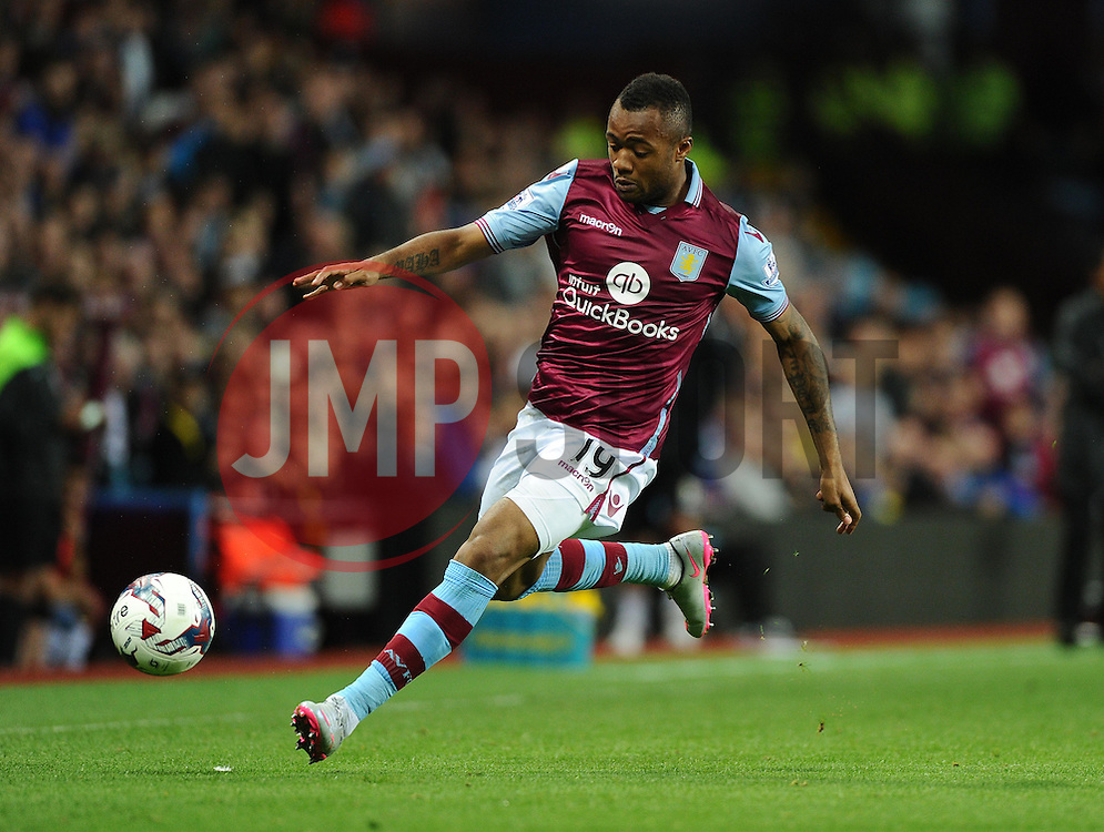 Jordan Ayew of Aston Villa  - Mandatory byline: Joe Meredith/JMP - 07966386802 - 25/08/2015 - FOOTBALL - Villa Park -Birmingham,England - Aston Villa v Notts County - Capital One Cup - Second Round