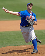 Kansas starting pitcher Kodiak Quick pitched six innings and took the loss, as the Wildcats held on to beat Kansas 5-4 at Tointon Stadium in Manhattan, Kansas, April 23, 2006.