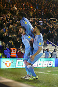 Matthew Godden of Coventry City (24) scores a goal with a header and celebrates during the EFL Sky Bet League 1 match between Coventry City and Rotherham United at the Trillion Trophy Stadium, Birmingham, England on 25 February 2020.