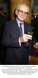 SIR PETER O'SULLEVAN at a reception in London on 29th November 2000.			OJO 55