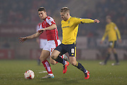 Middlesbrough midfielder Adam Clayton (8) during the Sky Bet Championship match between Rotherham United and Middlesbrough at the New York Stadium, Rotherham, England on 8 March 2016. Photo by Simon Davies.