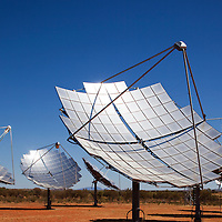 Australia, Northern Territory, Hermannsburg, Solar Power Generating Station in Outback