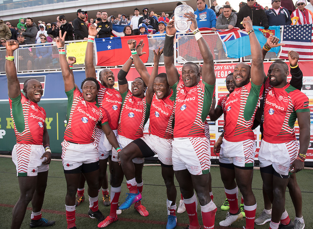 Mens teams take part in the knockout stages for the USA Sevens,  Round Five of the World Rugby HSBC Sevens Series in Las Vegas, Nevada, March 5, 2017. <br /> <br /> Jack Megaw for USA Sevens.<br /> <br /> www.jackmegaw.com<br /> <br /> jack@jackmegaw.com<br /> @jackmegawphoto<br /> [US] +1 610.764.3094<br /> [UK] +44 07481 764811