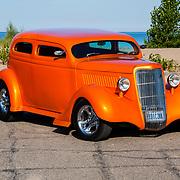 1935 Custom Ford Sedan on pavement