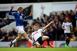 Eric Dier of Tottenham Hotspur sliding tackle on Tom Davies of Everton - Mandatory by-line: Jason Brown/JMP - 05/03/2017 - FOOTBALL - White Hart Lane - London, England - Tottenham Hotspur v Everton - Premier League