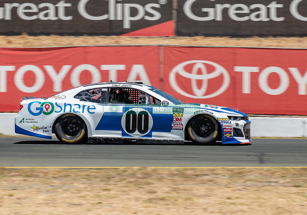 June 22, 2018 - Sonoma, CA, U.S. - SONOMA, CA - JUNE 22:  Tomy Drissi, driving the (00) Chevrolet for Starcom Racing speeds out of turn 8a on Friday, June 22, 2018 at the Toyota/Save Mart 350 Practice day at Sonoma Raceway, Sonoma, CA (Photo by Douglas Stringer/Icon Sportswire) (Credit Image: © Douglas Stringer/Icon SMI via ZUMA Press)