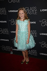 August 9, 2017 - New York, NY, USA - August 9, 2017  New York City..Chandler Head attending 'The Glass Castle' film premiere on August 9, 2017 in New York City. (Credit Image: © Kristin Callahan/Ace Pictures via ZUMA Press)