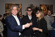 COSMO LANDESMAN; ROBERT ROWLAND SMITH, ANDREA WULF, Sotheby's Erotic sale cocktail party, Sothebys. London. 14 February 2018