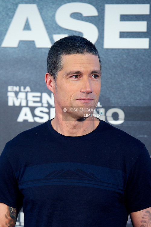 US Actor Matthew Fox attends 'Alex Cross' photocell at ME Hotel in Madrid, Spain