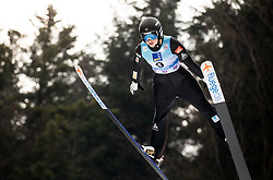 Josephine Pagnier of France soaring through the air during Trial Round at Day 1 of World Cup Ski Jumping Ladies Ljubno 2019, on February 8, 2019 in Ljubno ob Savinji, Slovenia. Photo by Matic Ritonja / Sportida