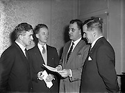 04/01/1957<br /> 01/04/1957<br /> 04 January 1957<br /> <br /> Air Company Press Conference in Dublin, Held by BKS Air Transport Ltd, Nutts Corner, Belfast