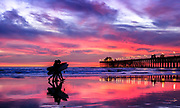 Oceanside Pier Vivid Color Sunset
