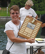 Long time Top O' race volunteer Mary Ellen Hagerl who was awarded this years Fred Kenny Sportsmanship Award.