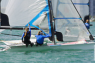 MIAMI, February 2, 2013 - Soffiatti and Kunze on the final leg to gold at the 2013 ISAF World Sailing Cup in Miami