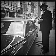 Man with Cadillac