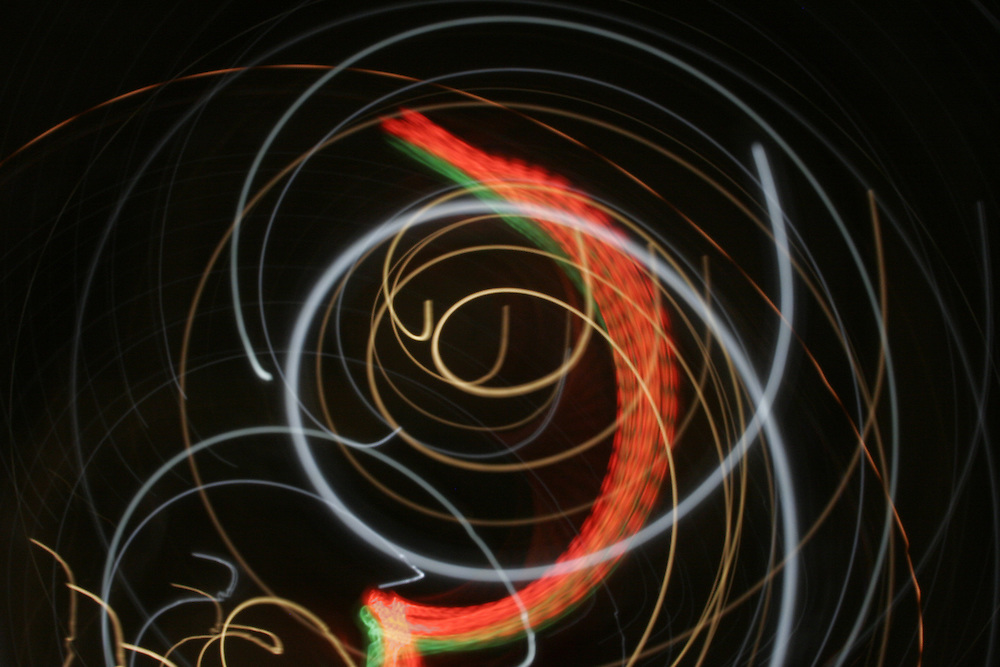 Abstract photograph of light and movement.