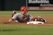 PHOENIX, AZ - JULY 08:  Zack Cozart #2 of the Cincinnati Reds safely slides into third base for a triple against the Arizona Diamondbacks in the first inning of the MLB game at Chase Field on July 8, 2017 in Phoenix, Arizona.  (Photo by Jennifer Stewart/Getty Images) *** Local Caption *** Zack Cozart