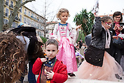 France, Nice, 14 February 2017. Carnaval de Nice, district carnival at Place Wilson, part of Off program.