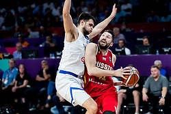 Kostas Papanikolaou of Greece vs Nikita Kurbanov of Russia during basketball match between National Teams of Greece and Russia at Day 14 in Round of 16 of the FIBA EuroBasket 2017 at Sinan Erdem Dome in Istanbul, Turkey on September 13, 2017. Photo by Vid Ponikvar / Sportida