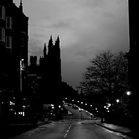 Strolling around the Scottish capitol as the blanket of evening comes in and the street lamps come on...