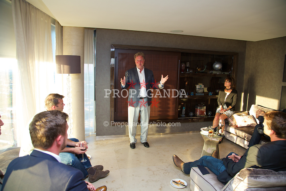 LIVERPOOL, ENGLAND - Saturday, June 21, 2014: David Pinchin at a players' dinner during Day Three of the Liverpool Hope University International Tennis Tournament at the West Tower. (Pic by David Rawcliffe/Propaganda)