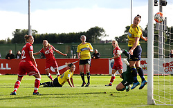 (Caption Correction) Claire Emslie of Bristol City Women scores her sides second goal against Oxford United Women - Mandatory by-line: Robbie Stephenson/JMP - 25/06/2016 - FOOTBALL - Stoke Gifford Stadium - Bristol, England - Bristol City Women v Oxford United Women - FA Women's Super League 2