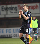 Greg Stewart applauds the Dundee support at full time -  Dundee v Kilmarnock, SPFL Premiership at Dens Park <br /> <br /> <br />  - &copy; David Young - www.davidyoungphoto.co.uk - email: davidyoungphoto@gmail.com