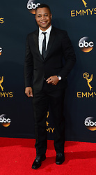 "September 18, 2016 - Los Angeles, California, United States - CUBA GOODING JR., of ""The People v. O.J. Simpson: American Crime Story."" arrives at the 68th Annual Emmy Awards at the Microsoft Theater. (Credit Image: © Michael Owen Baker/Los Angeles Daily News via ZUMA Wire)"