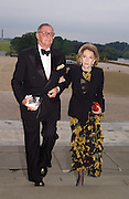 James Mitchell and Mrs. George Abbott, Ball at Blenheim Palace in aid of the Red Cross, Woodstock, 26 June 2004. SUPPLIED FOR ONE-TIME USE ONLY-DO NOT ARCHIVE. © Copyright Photograph by Dafydd Jones 66 Stockwell Park Rd. London SW9 0DA Tel 020 7733 0108 www.dafjones.com