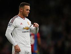 Wayne Rooney of Manchester United - Mandatory byline: Jack Phillips/JMP - 07966386802 - 31/10/2015 - SPORT - FOOTBALL - London - Selhurst Park Stadium - Crystal Palace v Manchester United - Barclays Premier League
