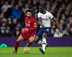 LONDON, ENGLAND - Saturday, January 11, 2020: Liverpool's Mohamed Salah (L) and Tottenham Hotspur's substitute Davinson Sánchez during the FA Premier League match between Tottenham Hotspur FC and Liverpool FC at the Tottenham Hotspur Stadium. (Pic by David Rawcliffe/Propaganda)