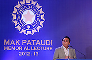 Cricket - Mansoor Ali Khan Pataudi Memorial Lecture 2013 Media Images